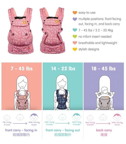 BABY TULA全階段嬰兒揹帶- 花群(H3TCA700B)