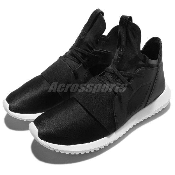 adidas 休閒鞋 Tubular Defiant W 黑 白 高筒 武士鞋 小Y3 運動鞋 女鞋【PUMP306】 S75249