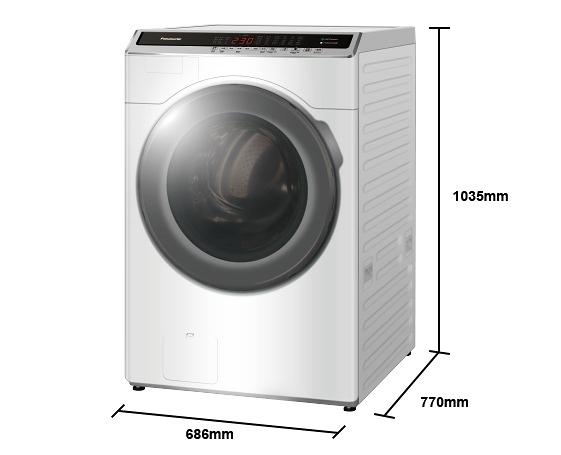 《Panasonic 國際牌》14公斤 變頻洗脫烘滾筒洗衣機 NA-V140HDH-W (冰鑽白)
