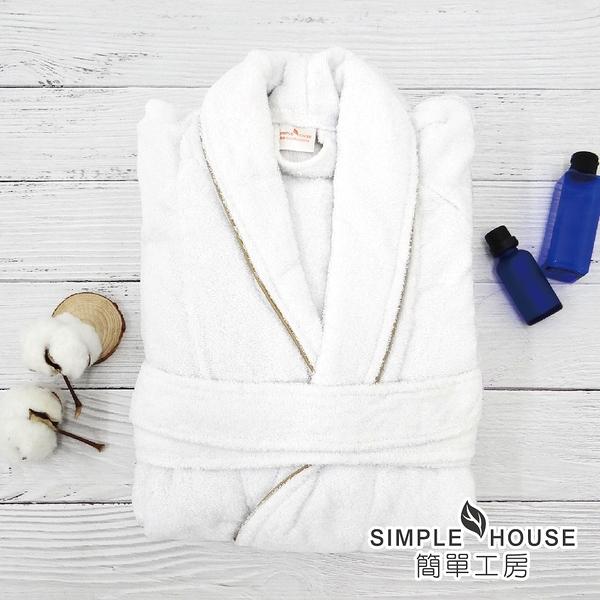 【木棉工房】經典浴袍-簡單白(身長105cm 100%棉 台灣製)