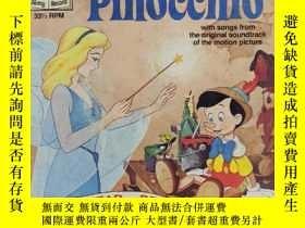 二手書博民逛書店迪士尼原版唱片繪本:《Pinocchio(皮諾奇)》(SEE罕見HEAR READ)Y11029