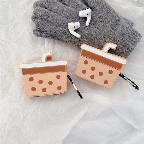 Airpods Pro 專用 台灣發貨 [ 珍珠奶茶 ] 藍芽耳機保護套 蘋果無線耳機保護