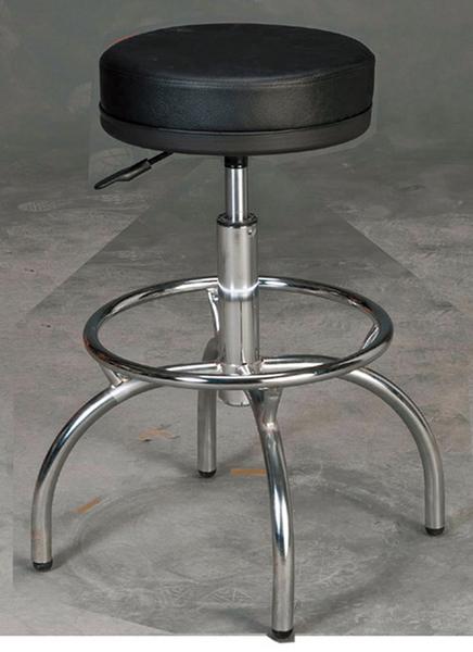 HY-812-8    厚墊四爪吧椅/造型椅-黑皮/電鍍