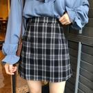 短裙 格子半身裙女2020新款韓版百搭高腰顯瘦A字裙短裙學生復古包臀裙