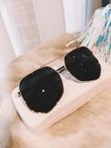 太陽眼鏡 男女同款情侶太陽鏡防紫外線ins街拍多邊形墨鏡韓版潮蛤蟆鏡大框 寶貝計畫