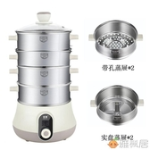 快速蒸汽鍋 多層電蒸鍋家用多功能小容量電蒸籠 220V 雅楓居