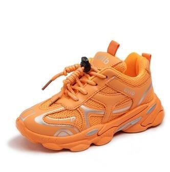男童運動鞋 童鞋兒童運動鞋加絨女童老爹鞋2021春新款男童休閒鞋【快速出貨八折搶購】