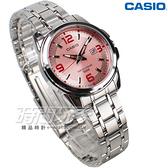 CASIO卡西歐 LTP-1314D-5A 經典簡約數字錶 女錶 不銹鋼 日期顯示窗 防水錶 粉紅色 LTP-1314D-5AVDF