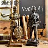 歐式復古創意羅馬士兵勇士客廳書房餐廳電視機櫃櫥窗裝飾擺件設
