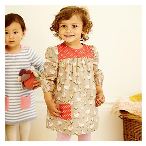 女童 純棉長袖連身裙-農村