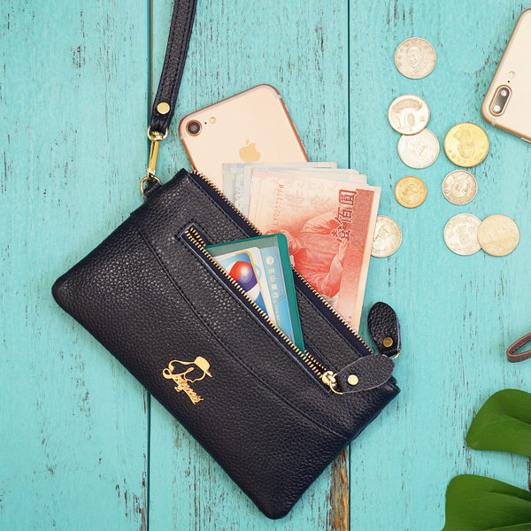 手機包1/2princess 品味時尚真皮多層次手拿包長皮夾-5色[A0032]