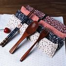 萬聖節快速出貨-和風四季魚飯勺 筷子勺子 布袋套裝