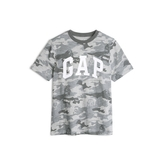 Gap男童棉質舒適圓領短袖T恤539470-灰色迷彩