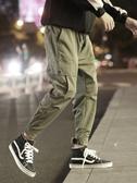 束腳褲工裝褲子男士秋冬季寬鬆束腳褲韓版潮流加絨加厚休閒長褲運動 貝芙莉