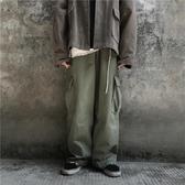 工裝褲 韓版復古高街純色工裝褲寬鬆直筒寬管褲男女褲子 小天後