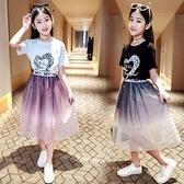 女童短裙 半身裙夏天洋氣兒童紗裙長裙中大童套裝薄款短裙超仙過膝夏裝【快速出貨】