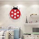兒童房創意實木鐘表客廳掛鐘現代簡約時尚靜音時鐘中式書房裝飾鐘 zh4745【宅男時代城】