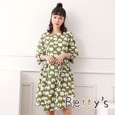 betty's貝蒂思 日系滿版圖紋洋裝(淺綠)