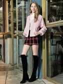 秋冬8折[H2O]半高領蕾絲拼接可內搭或單穿羅紋針織上衣 - 黑/白/粉色 #8631004