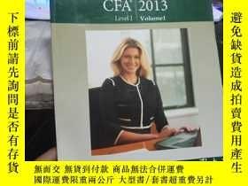 二手書博民逛書店CFA罕見Level I 2013 VolumelY211982