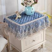 歐式電視機罩防塵罩冰箱洗衣機床頭櫃蓋布多用巾蓋巾小桌布小方巾HM3C 優購