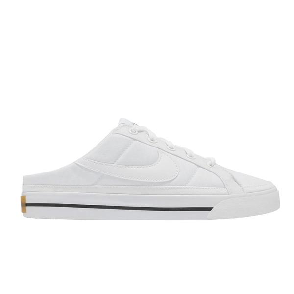 Nike 穆勒鞋 Wmns Court Legacy Mule 白 黑 女鞋 男鞋 拖鞋 懶人鞋【ACS】 DB3970-100