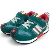 《7+1童鞋》中童 日本IFME 輕量透氣 機能鞋 運動鞋  C437 綠色