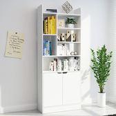 書架簡易書架落地簡約現代組裝格子多層置物架兒童學生書架igo 夏洛特居家