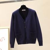 護士毛衣外搭女新款藏青色工作服針織外套開衫秋冬季保暖加厚上衣 小宅女