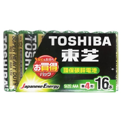 TOSHIBA東芝環保4號電池 16入