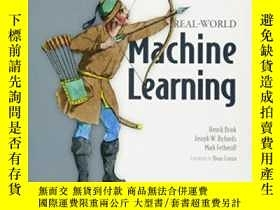 二手書博民逛書店Real-world罕見Machine LearningY364682 Henrik Brink Mannin