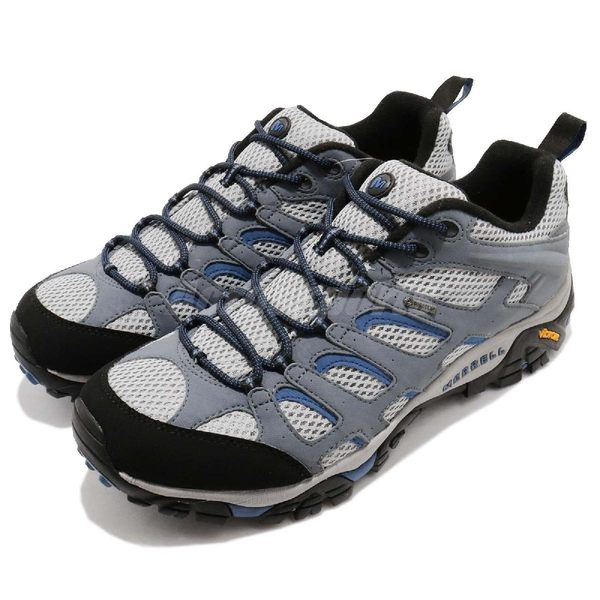 Merrell 戶外鞋 Moab 運動 Gore-Tex 防水 透氣 越野 灰藍 鐵灰 藍 休閒鞋 男鞋【PUMP306】 ML65269