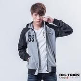 Big Train 配色棒球外套-男-麻色-B3016783