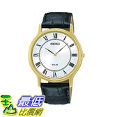 [美國直購] Seiko Men s 男士手錶 SUP878 Analog Display Japanese Quartz Black Watch