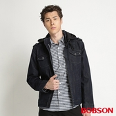 BOBSON 男款熱感IN牛仔外套(藍32045-52)