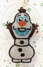 【震撼精品百貨】冰雪奇緣_Frozen~迪士尼公主系列亮片鑰匙圈/吊飾-冰雪舉手#27776