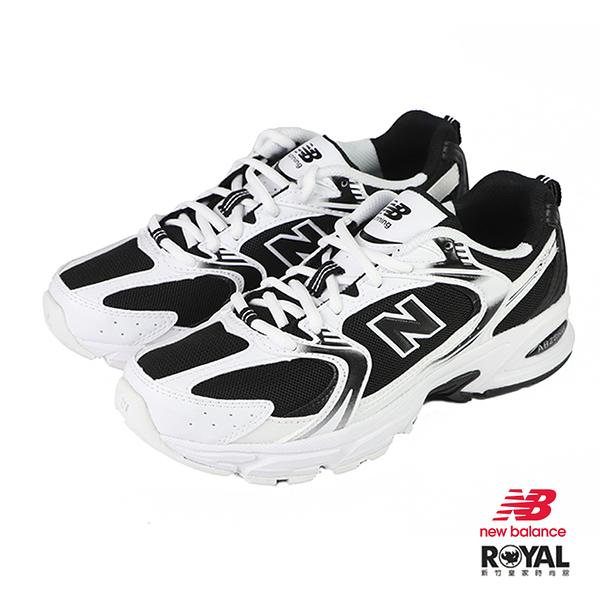 New balance 530 黑/白色 皮質 運動休閒鞋 男女款 NO.B1323【新竹皇家 MR530SJ】