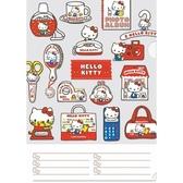 〔小禮堂〕Hello Kitty 日製L 型文件夾《A4 紅白物品》資料夾L 夾檔案夾4977524 15598