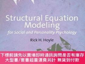 二手書博民逛書店Structural罕見Equation Modeling For Social And Personality