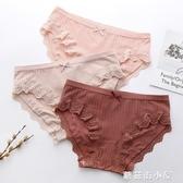 內褲女純棉100%全棉抗菌襠中腰蕾絲少大碼性感抗菌短褲少女底褲 蘑菇街小屋