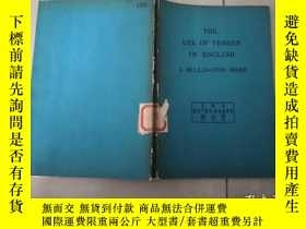 二手書博民逛書店THE罕見USE OF TENSES IN ENGLISHY241171 J MILLINGTON WARD
