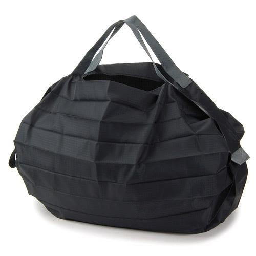 日本 MARNA Shupatto 黑色輕量購物袋/環保袋/耐重/快速摺疊收納-正版
