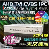 【台灣安防家】ICATCH 可取 8路 4聲 AHD TVI 1440P 4MP 400萬 混合型 監控主機 DVR