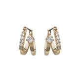 耳環 玫瑰金 925純銀水晶-極致華麗生日情人節禮物女飾品2色73gs152【時尚巴黎】