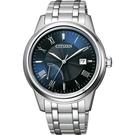 CITIZEN 星辰 光動能電量等級顯示手錶-41mm AW7001-98L