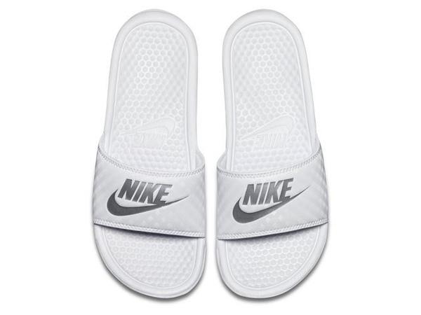 *NIKE WMNS BENASSI JDI 運動拖鞋 全白 菱格 343881-102