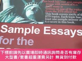 二手書博民逛書店Sample罕見Essays for the TOEFL Writing TestY493726 ToeflE