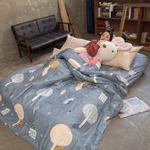 森謎情話 S2單人床包雙人被套三件組 100%復古純棉 台灣製造 棉床本舖
