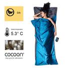 分享 奧地利 COCOON|輕巧親膚 100%純絲 旅用床單 / 睡袋內袋- 灰/矢車菊藍