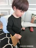 長袖上衣 兒童T恤長袖上衣純棉打底衫男童新款女童白色寶寶嬰兒潮 童趣潮品